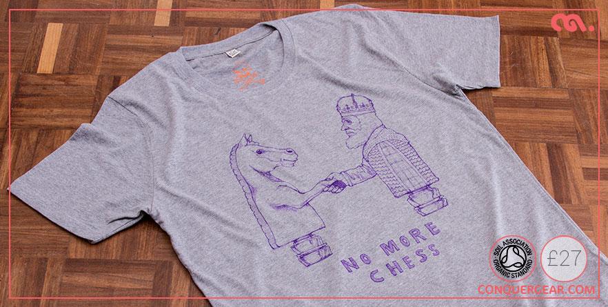 NoMoreChess_illustrated_ConquerGear_Organic_Tshirt_ShakeAndGetOverIt